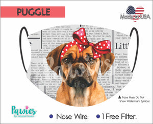 Open image in slideshow, Puggle Face Mask