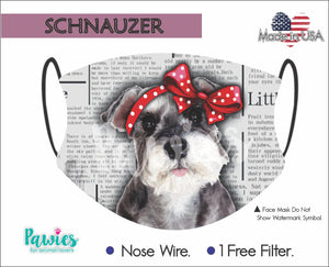 Open image in slideshow, Schnauzer Face Mask