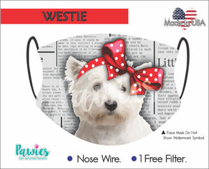 Open image in slideshow, Westie Face Mask