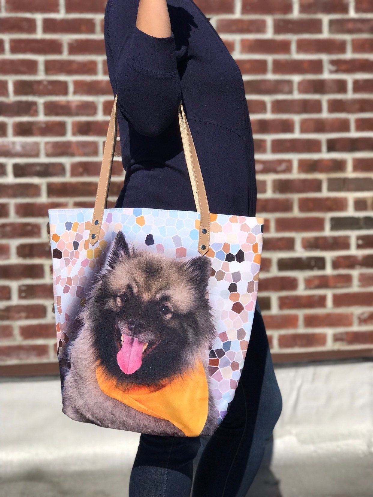 Keeshond Tote bag,  tote bag, animal lovers, dog lovers, dog lover, pawies, keeshond