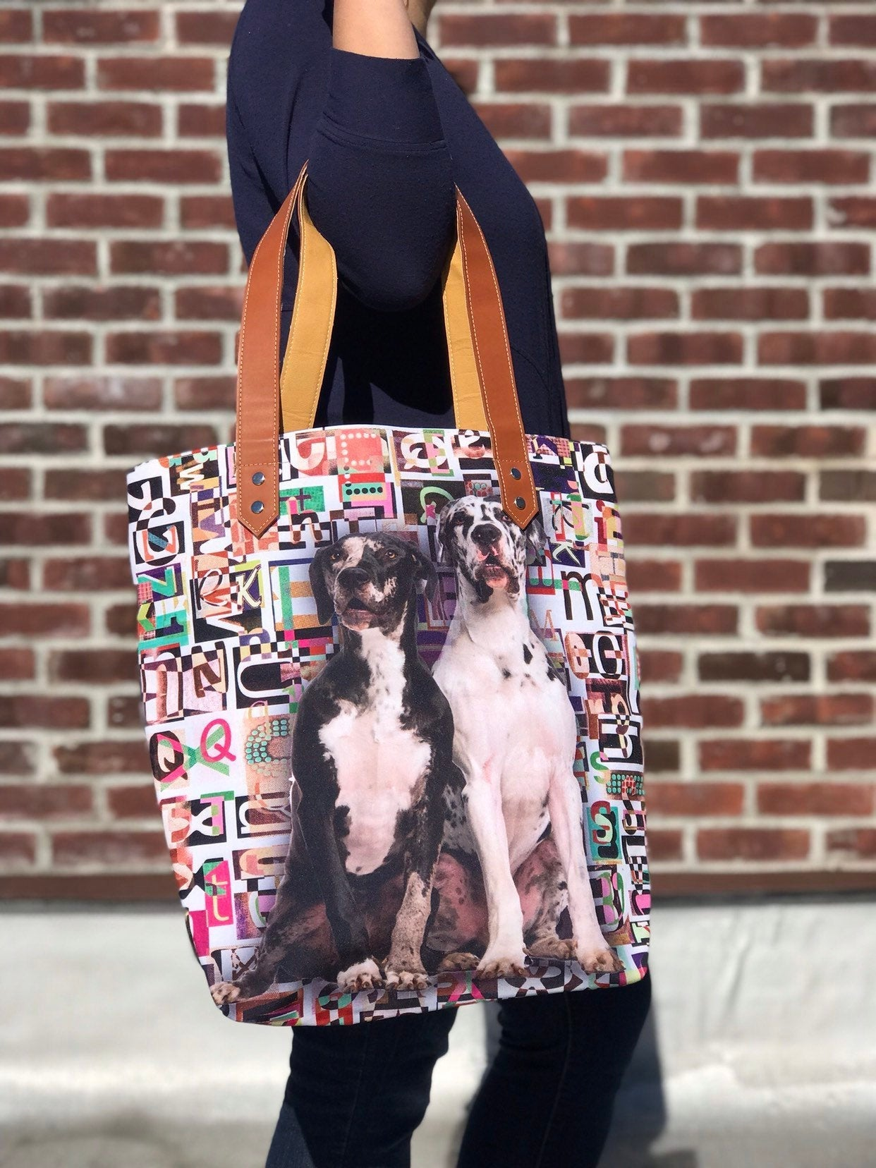 Great Dane Tote bag,  tote bag, animal lovers, dog lovers, dog lover, pawies, Great Danes dog