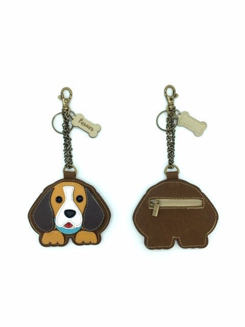 Beagle Keychain • Vegan leather
