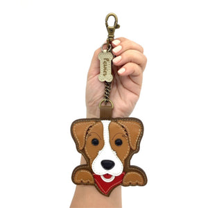 Jack Russell Keychain • Vegan leather