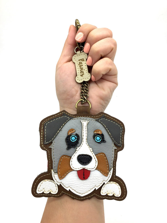 Australian Shepherd Keychain • Vegan leather