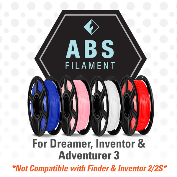 FlashForge ABS Filament  for Dreamer, Inventor, and Adventurer 3