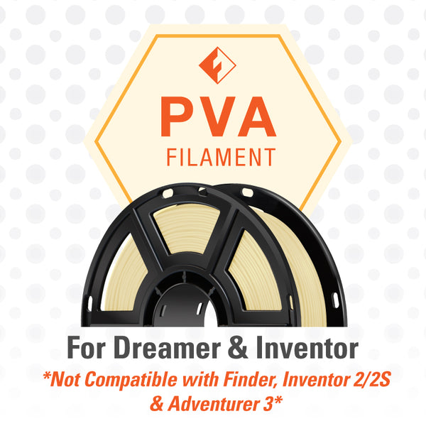 FlashForge PVA Filament for Dreamer and Inventor - Clear Color