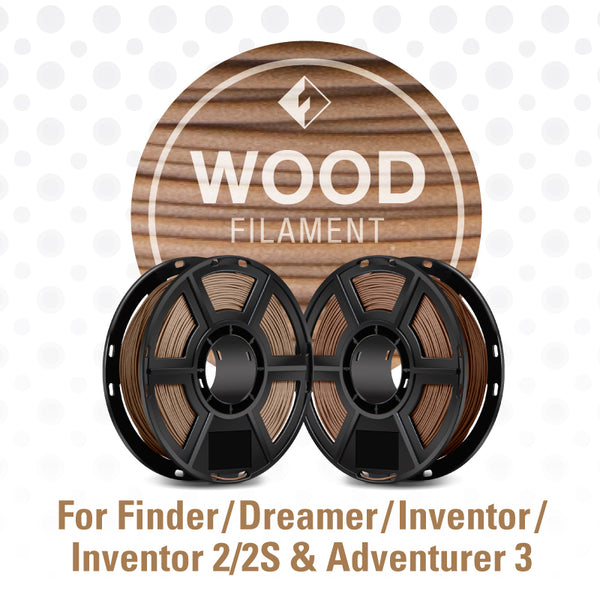 FlashForge Wood Filament for Dreamer, Inventor Series, and Adventurer 3