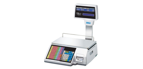 CAS CL-5500R Label Printing Scale with Pole Display