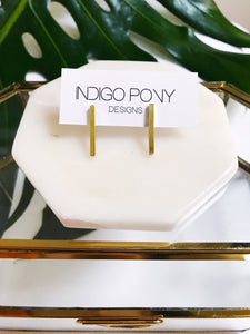 brass bar studs