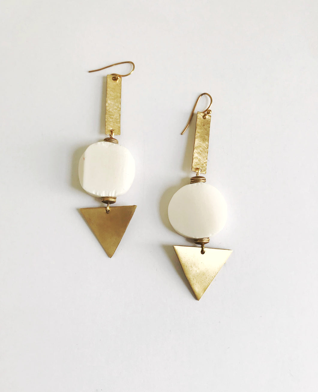 township triangle earrings