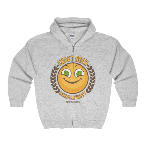 Craft Beer Makes Me Hoppy' Hooded Sweatshirt
