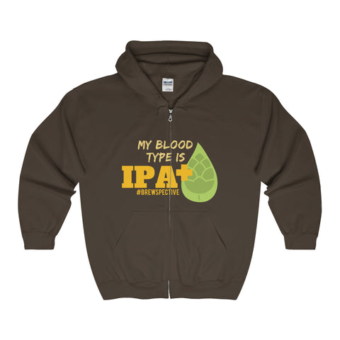 'My Blood Type Is IPA+' Hooded Sweatshirt