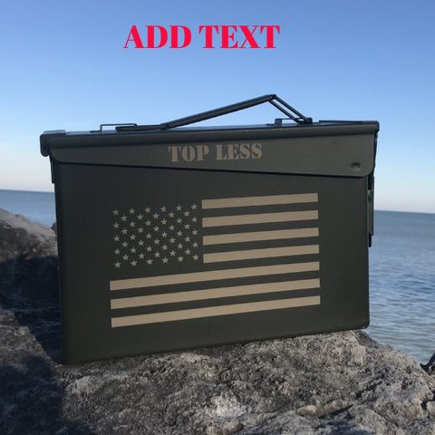 Personalized  .30 Cal Small Combat Humidor