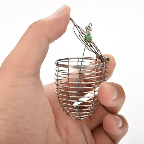1 PC Stainless Steel Wire Fishing Lure Cage