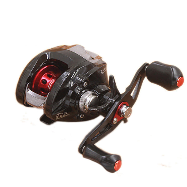 Right or Left Handed Magnetic & Centrifugal Fishing Reel With Dual Break by MUQGEW