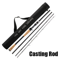 4 Section M Power Carbon Fiber Spinning/Casting Travel Rod By SeaKnight