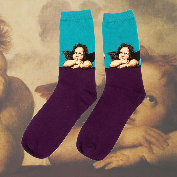 Sistine Madonna Angels Cherubs Socks
