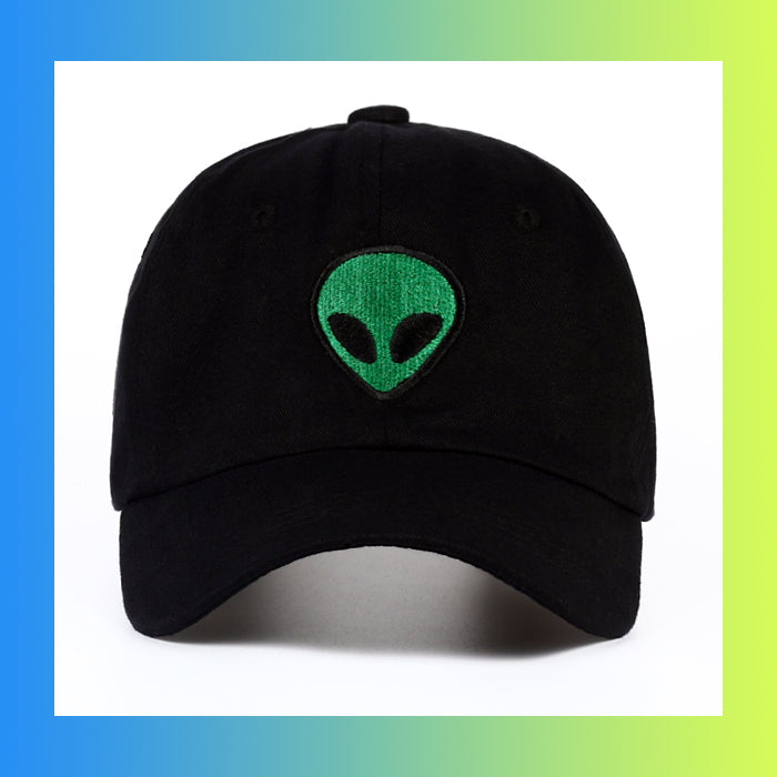 UFO space I want to leave Alien Head patch dad hat