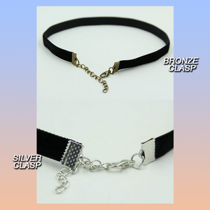 Black velvet retro 90s style choker necklace