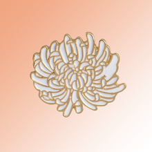 Chrysanthemum flower enamel lapel pin