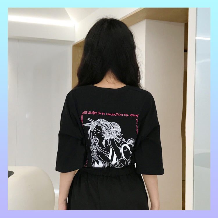 Traditional japanese woman tattoo t-shirt