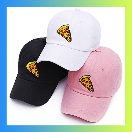 Pepperoni pizza slice dad hat