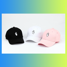 kpop idol hand heart gesture dad hat