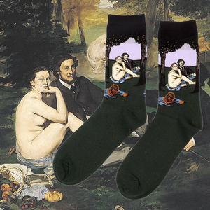 Art history luncheon naked lunch socks