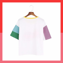 Tiger patchwork ringer t-shirt kawaii aesthetic