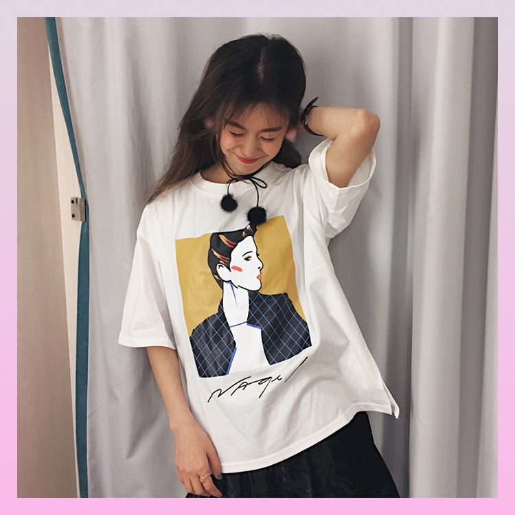 Nagel Pop Art Woman Portrait T-Shirt