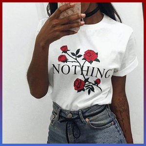 Nothing roses nihilism t-shirt aesthetic tumblr