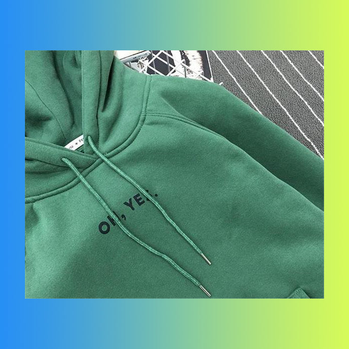 Oh Yes Aesthetic Vaporwave Hip Hop Hoodie Autumn