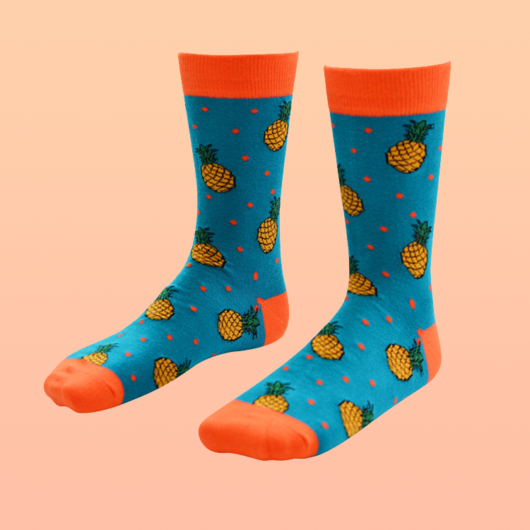 Pineapple funny colorful socks