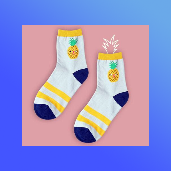 Cute kawaii pineapple socks
