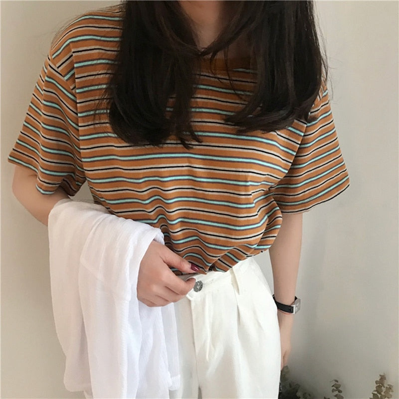 Basic Striped Ringer Tee