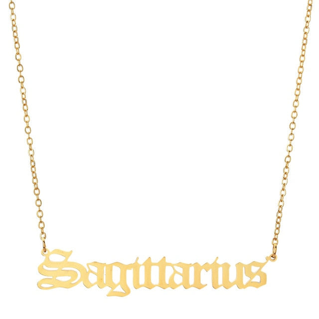 Zodiac Sign Necklace (12 Zodiacs)