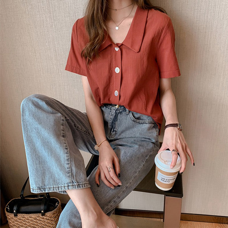 Retro Button Up Blouse