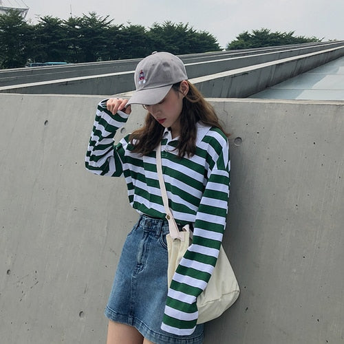 Classic 80's Striped Long Sleeve