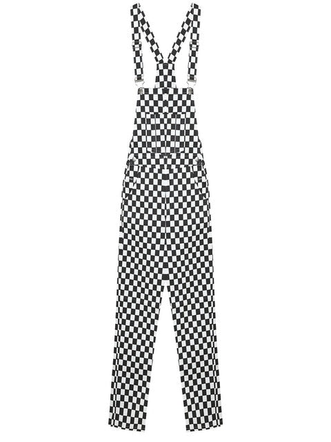 Black & White Checkered Overalls