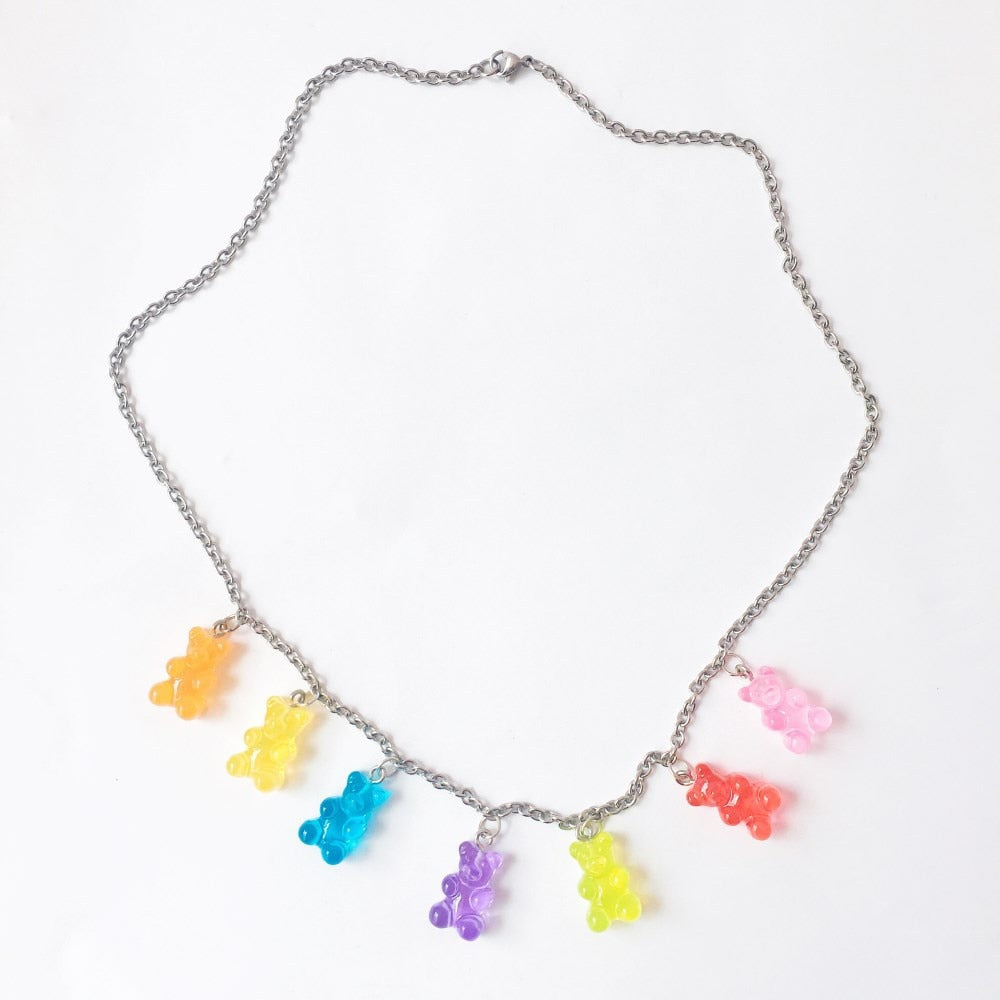 Gummy Bear Chain Necklace