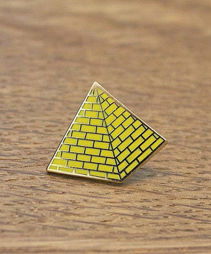 Pyramid enamel lapel pin