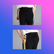 Rainbow striped joggers loungewear athletic pants comfortable