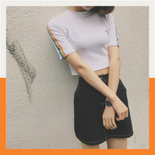 RAINBOW SLEEVES CROP TOP (2 colors)