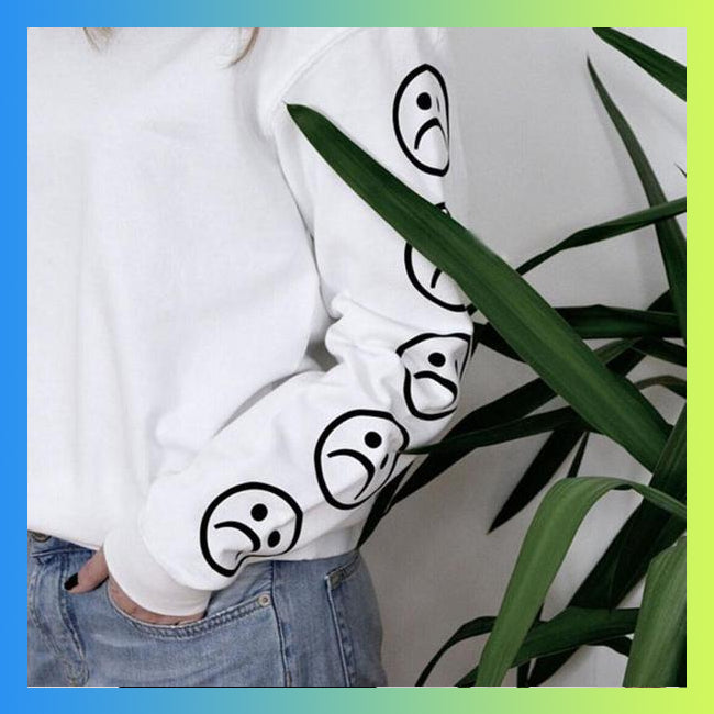 Sad girl club sad face emoji aesthetic tumblr shirt