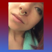 Fake mock clip on septum ring