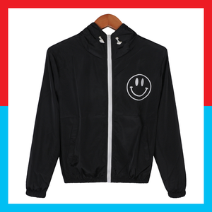 Smile Smily smiley face windbreaker