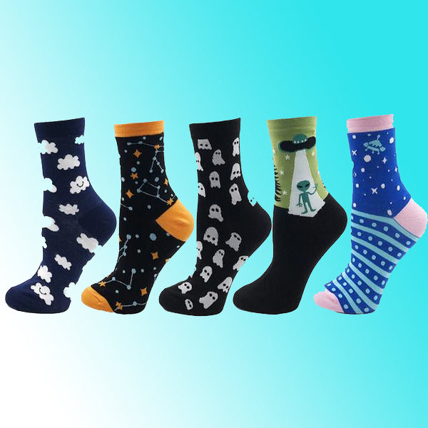 I Want to Believe Alien Socks - 5 pack
