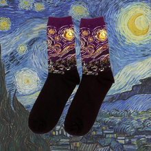 Art history starry night van gogh socks