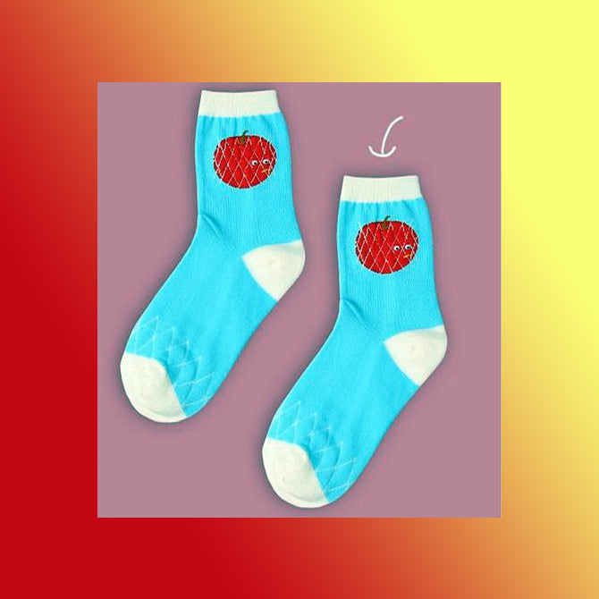 Cute kawaii strawberry socks