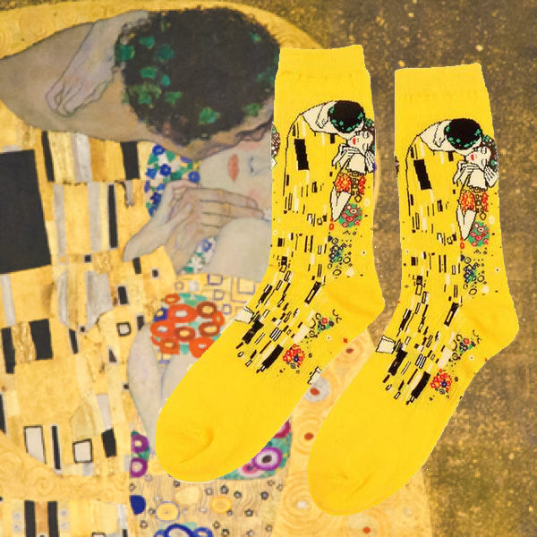 The kiss lovers art history socks